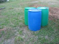 PLASTIC FOOD GRADE 55 GALLON DRUMS $ 16.00