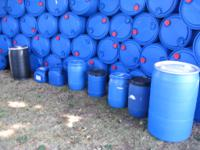 Great selection of food grade plastic barrels and