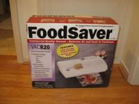 FoodSaver Vac 820 for vacuum product packaging