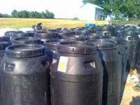 60 gallon black food grade pickle barrels with screw