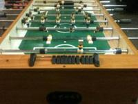 Commercial style foosball table. Barely used. Oak