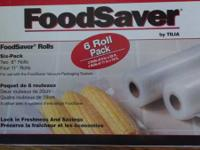FoodSaver Rolls by Tilia - Six Pack for use with the
