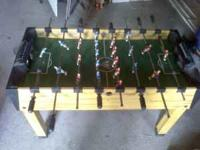 Foos ball table is in good shape pretty much brand new,
