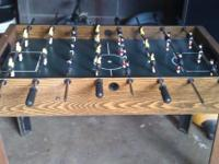 I have a foos ball table in decent shape and still very