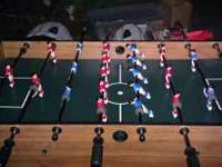 Standup foosball table, the top comes off to play pool,