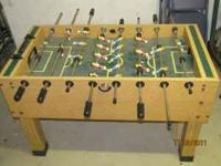 Good condition (needs cleaned) foosball table with 5