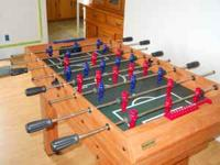 Hi there! We have a like new foosball table! Need to