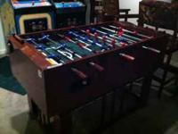 FOOSBALL TABLE, GREAT CONDITION, $150.00. CALL MY CELL