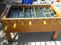 awesome foosball table for sale call jake  or taylor
