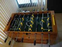 Foosball Table; very nice and well-kept in a