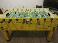 Foosball table for sale. Very good condition. Old one