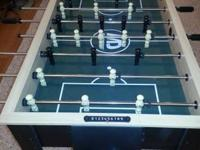 "MD Sports 48"" foosball table. Like new, 1 year old,"