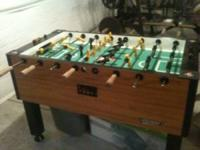 almost new toranado cyclone foosball table 600$ call or