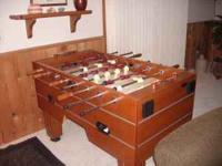 Halex foosball table, like new, We just need the room.