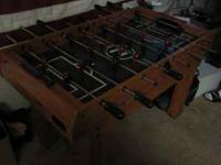 All in one foosball table. Comes with air hockey table