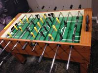Nice foosball table that does not get sufficient dip