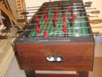 Foosball Table, good condition. $80.00 or trade for