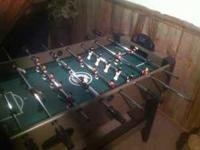Clean electronic working foosball table for sale,