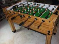 Full Size Foosball Table $200.00  Location: Whitehall