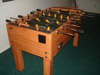 Foosball Table - made by Harvard. Very lightly used.