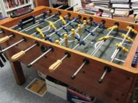 Harvard Foosball Table with Electronic Score keeper.