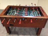 Harvard Premium Foosball Table in Butcher Block finish.
