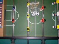 Soccer Foosball tabletop game with 2 soccer balls