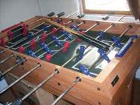 Foosball table with 6 other different games like pool,