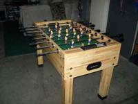 For sale is a used foosball table. I have had the table