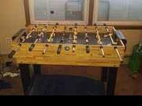 Wooden 3-1 Foosball Table for sale. Good condition