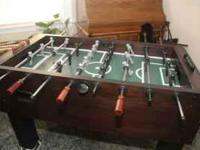 We have a foosball table that we're considering