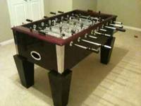 This foosball table was bought new just 6 months ago.