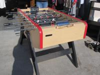 Foose ball table in good shape, perfect for game room.