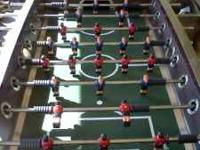Selling our foose ball table, stainless steel cherry