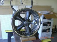 "Brand name brand-new, 17"" x 8"", 5 bolt 5"" bolt circle"