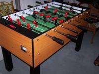 Offering this like new Shelti FooseBall Table with