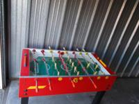 Fooseball Table, by Garlando This Used table is solid,