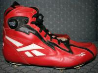 Excellent condition Reebok all-leather football cleats