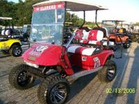SPORT TEAM GOLF CARTS USED 4 PASSANGER, WINDSHEILDS,