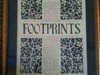 Beautiful footprints picture 17x15 call or text
