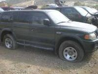 We are dismantling a 2002 Mitsubishi Montero call,