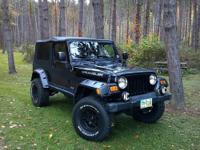 2004 Jeep Wrangler Unlimited LJ, Black, 102,000 miles,