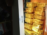 We are interested in selling raw gold and gold bar of