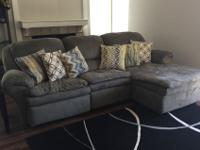3 piece comfy sectional, needs minimal repair, with
