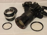 FOR SALE: Nikon FE, case and two lenses. One is the
