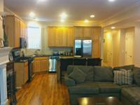 Large Open Living Room & Kitchen, Fireplace, Granite