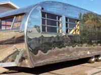 This is a 1960 Kenskill, single axle travel trailer, it