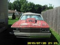 For Sale, 1985 El Camino..Has no motor or transmission.