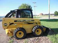 For Sale-2001 260 John Deere Skidloader W/ Cab/Heat,