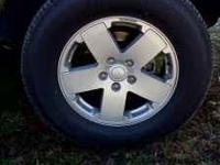 4 Tires and rims are like new rims are stock sahara 18